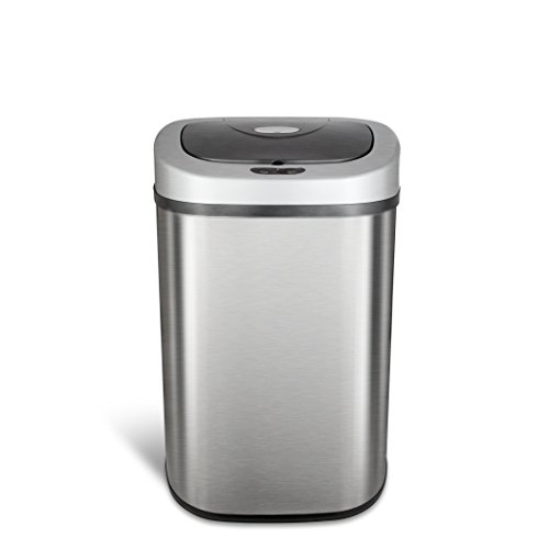 NINESTARS DZT-80-4 The Original Touchless Automatic Motion Sensor Trash Can, 21 Gal. / 80 L., Stainless Steel