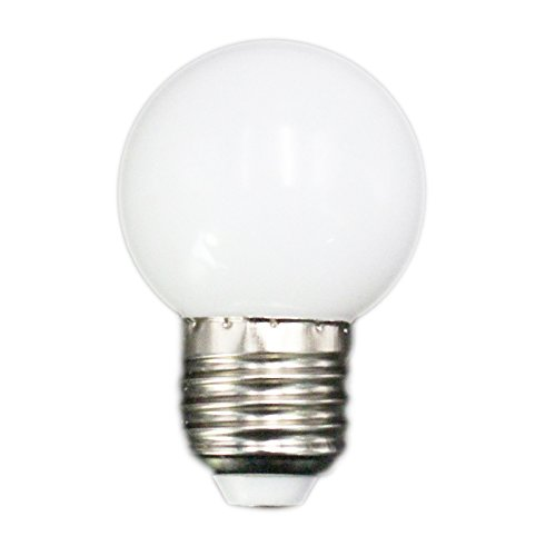 SODIAL E27 LED bombillas- E27 1w Pe helado globo LED colorido blanco/rojo /