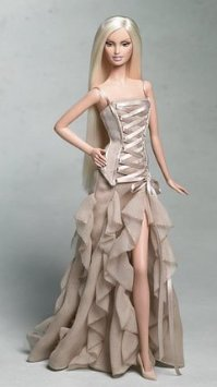 Price comparison product image VERSACE Barbie (Barbie) Gold Label Collectible Doll 2004 Doll doll figure (parallel import)