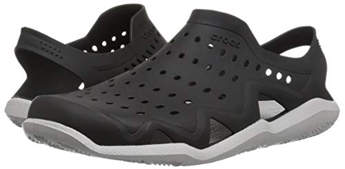 Crocs Men's Swiftwater Wave M Sport Sandal Black/Pearl White 5 M US by Crocs (Image #6)