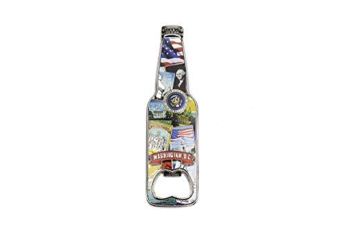 Washington DC Retro Collage Bottle Opener Magnet