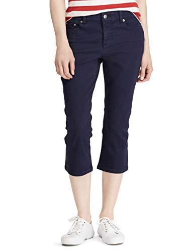 Chaps Women's Twill Capri Pants (Blue, ()