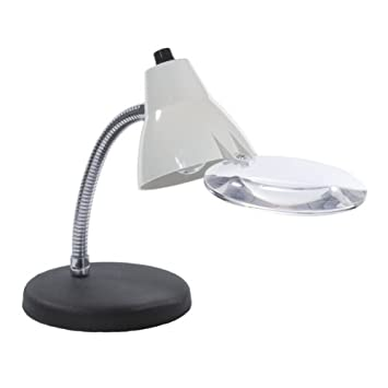 Amazon.com: 2X High Intensity Table Lamp with Magnifier: Beauty