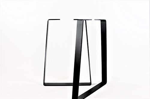 Powdercoated Trapezoid Steel Desk Legs-Choose Your Height and Width