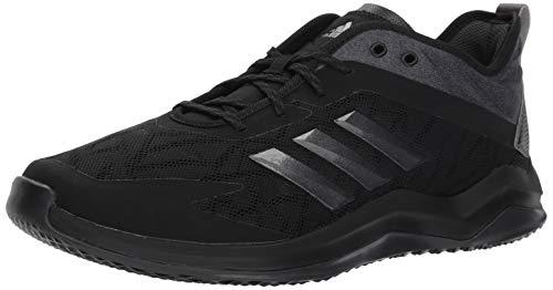 adidas Men's Speed Trainer 4 Baseball Shoe, Black/Night Metallic/Carbon, 14 M US