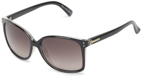 VonZipper Castaway Square Sunglasses,Black & Crystal,One ()
