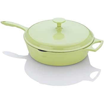 Fagor Michelle B. 4-Quart Chicken Fryer with Lid, Lemon Lime