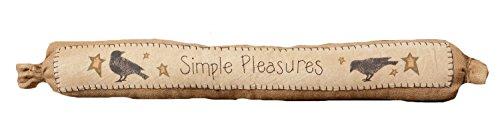 Your Hearts Delight Simple Pleasures Door Draft Stopper, 33-inch 8FA561
