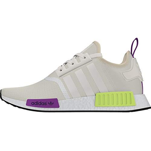 (adidas Originals Men's NMD_R1 Chalk White/Chalk White/Semi Solar Yellow 10 D)
