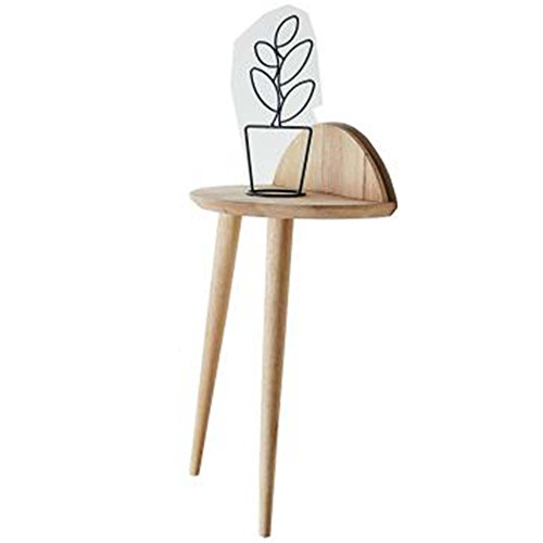 Plant Stand Flower Shelf Sofa Side Small Corner, Walnut Color/Wood Color CONGMING (Color : Low Foot - Wood Color - Side) ()