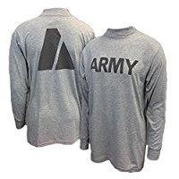 New US ARMY Grey Moisture Wicking PT PTU Long Sleeve T-Shirt (Military New T-shirt)