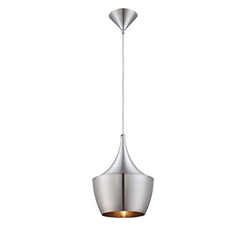 - Home Decorators Collection 1-Light Brushed Aluminum Pendant