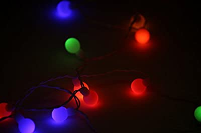 50 LED Colorful Light String for Indoor and Outdoor Use LEDs Bulbs Outdoor Garden Patio 50 Bulb Strand Round Lights Multicolor