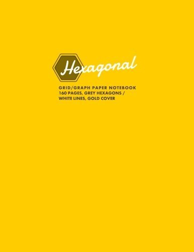 Hexagonal Grid/Graph Paper Notebook, 160 Pages, Black Cover: Hexagonal Series, 8.5