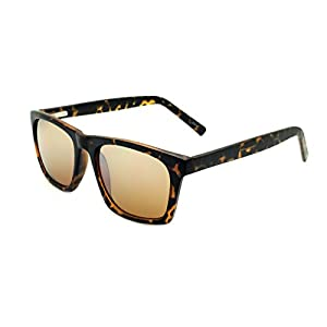 Zoo York Men's Square Sunglasses, Tortoise Frame, Amber Driver Lens, 53mm