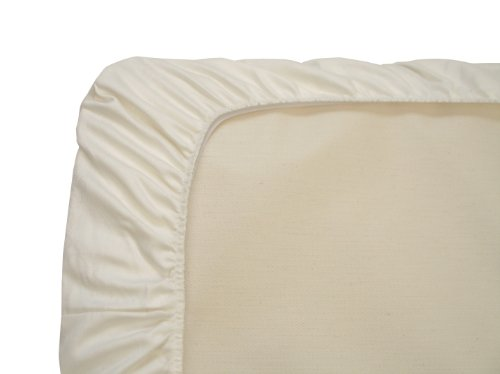 Naturepedic Organic Cotton Bassinet Fitted Sheet, Ivory 15 IN x 30 IN ( 38cm x 76cm)