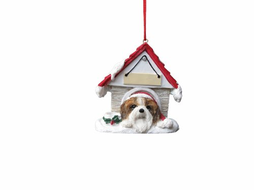 Tzu Ornaments Shih White (Shih Tzu Ornament Tan and White A Great Gift For Shih Tzu Owners Hand Painted and Easily Personalized