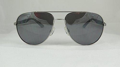 Puma - FLEXSTYLE V2 PU0007S, Aviator, rubber, men, SILVER BLACK/GREY SILVER MIRROR cat.3(002 D), 59/16/135 - Puma Silver Sunglasses