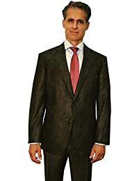 Big and Tall Luxury Microfiber Faux Leather-Like Super Soft Sport Coat to Size 60
