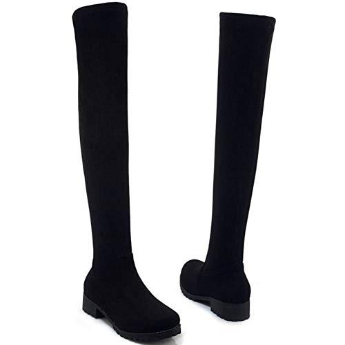 warm Coolcept Women Knee Black Boots Over 25 xw8ZwFqX
