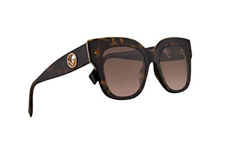 Fendi FF0359/G/S Sunglasses Dark Havana w/Brown Pink Gradient Lens 51mm 086M2 0359GS FF 0359/G/S