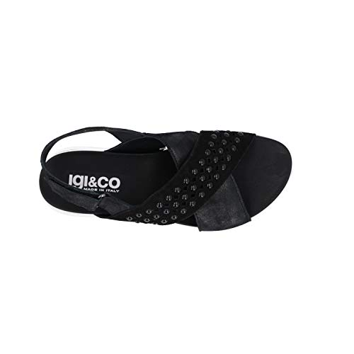 Chaussures Igi Noires Compensées Femmes Co Pour 31698 Sandales nUpUxgwqY