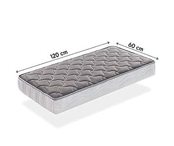 SleepAA Colchon de cuna 120x60 fibra de coco y muelles Fabricado en España (120x60 cm)