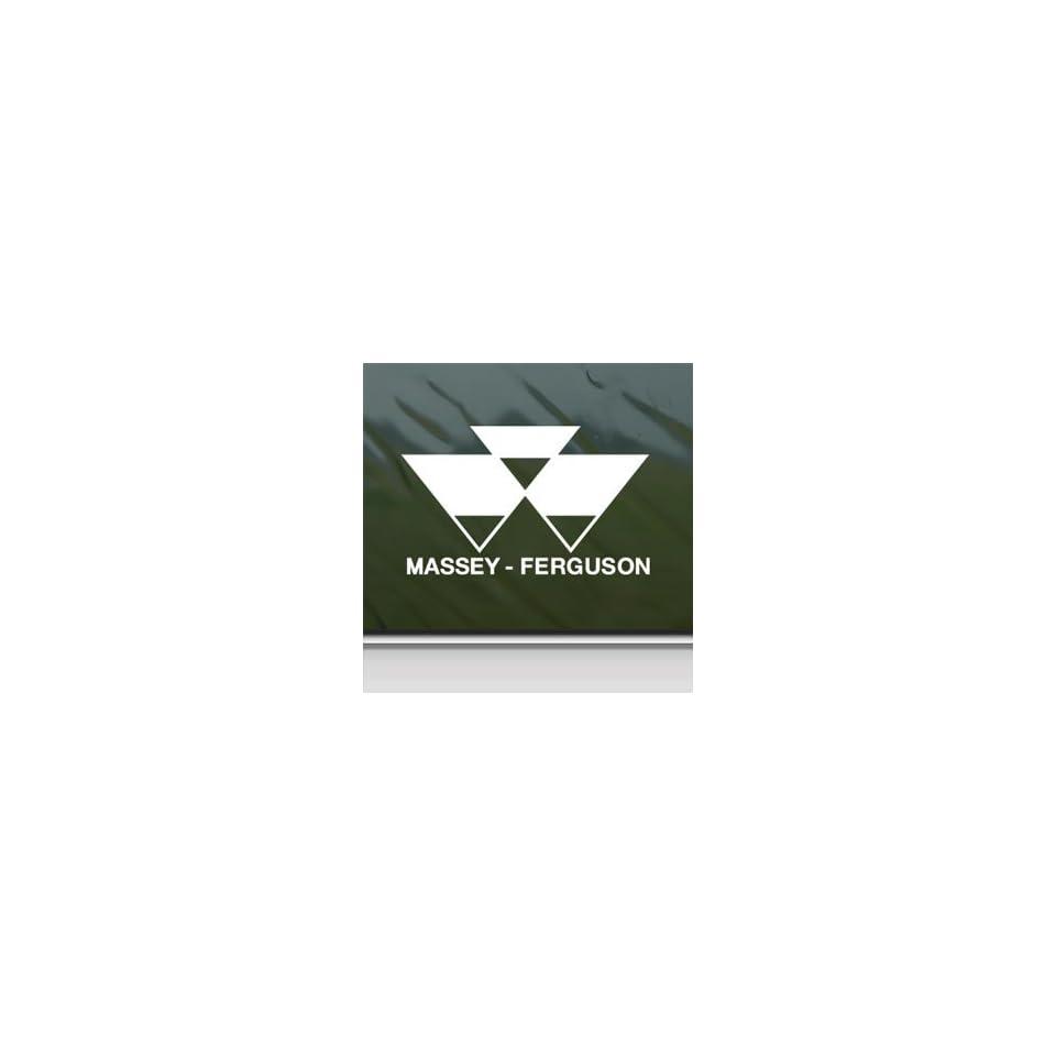 Massey Ferguson White Sticker Car Laptop Vinyl Window White Decal