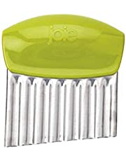 Joie Crinkle Cutter / Wavy Knife for Any Vegetable, Great Crinkle Cutter for Veggies, Stainless Steel Blade, Colors Vary