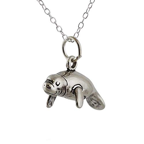 Manatee Sea Cow Necklace - Sterling Silver - Friendship Necklace - Gift for Her