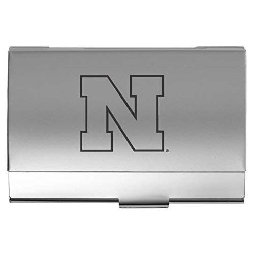 (University of Nebraska??Lincoln - Two-Tone Business Card Holder - Silver)
