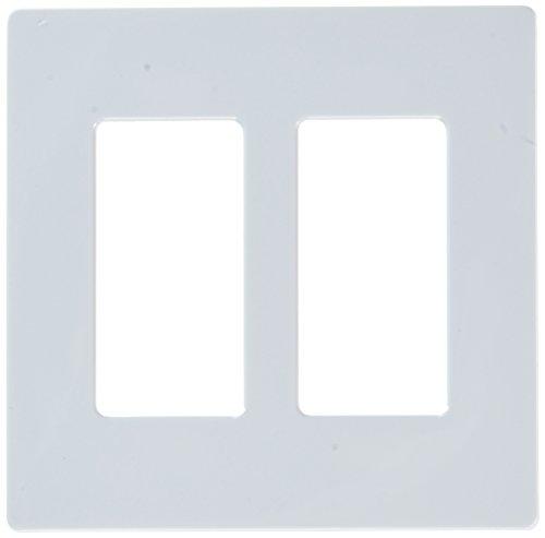 - Lutron CW-2-WH Screwless Wall Plate Claro 2-Gang Decora Style Gloss White-2PK