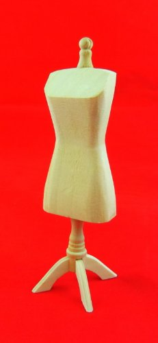 Melody Jane Dolls house Miniature Unfinished Natural Wood Mannequin Dressmaker Tailors Dummy -  FU U3031