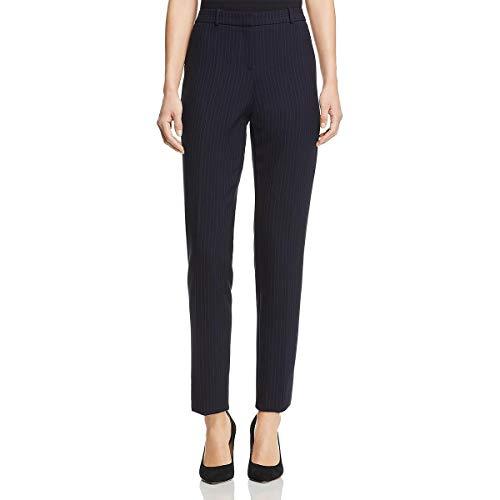 BOSS Hugo Boss Womens Tilunana Pinstripe High Rise Dress Pants Navy 14
