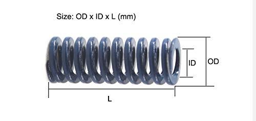 1pc Blu Die Primavera Lunga 48/% Rapporto di Compressione della Molla della Muffa TL25x20 25x25 25x30 NO LOGO W-Shuzhen 25x50 25x55mm Mould Die Compressione della Molla Taglia : 25x20mm
