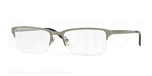 Versace VE1223 Eyeglasses-1001 Gunmetal - Rimless Versace Glasses