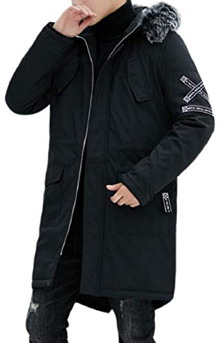 HTOOHTOOH Men's Warm Winter Quilted Casual Hoodie Fur for sale  Delivered anywhere in USA