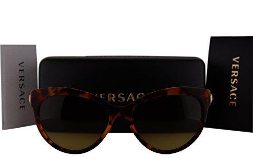 Versace VE4338 Sunglasses Havana Orange w/Brown Gradient Lens 524413 VE - Versace Sunglasses 4296
