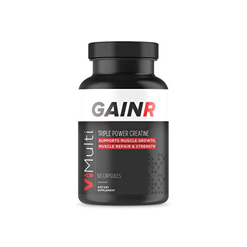 GAINR Advanced Creatine HCL Muscle Weight Gain Pills for Women and Men - Guaranteed Powerful, Proven, Extra-Potent USA Made Creatine Pills for Muscle Gain Promote Rapid Growth, Performance & ()