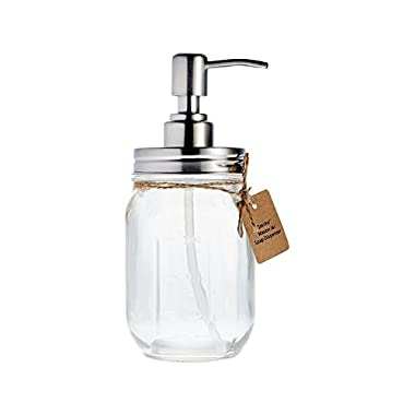 Rust Proof Smith's Mason Jar Lotion dispener & Soap Dispenser Perfect for the Kitchen or the Bathroom, Makes a Great Gift!