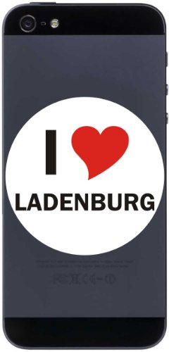I Love Decal Sticker Sticker Cell Phone Sticker Handyskin 7 Cm With City Name Ladenburg