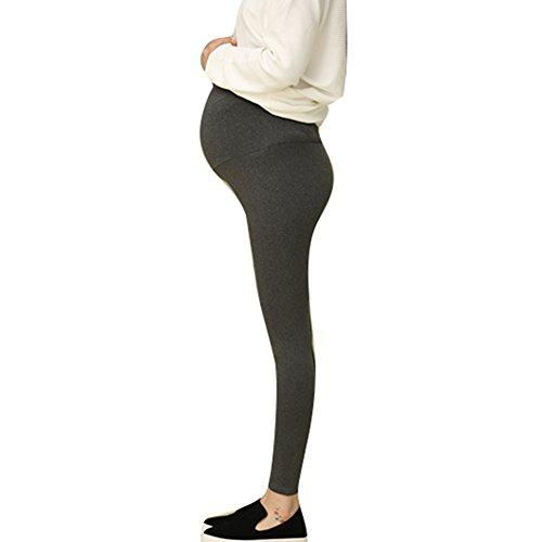 Highdas Maternidad Delgado verano Leggings de gran tamaño Soft Modal Cotton Negro