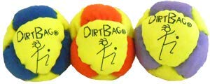 Dirtbag Classic Footbag 3-Pack - Fluorescent Yellow/Orange Combo by Dirtbag