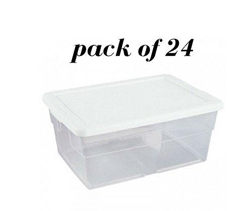 Sterilite 16 Qt. Storage Box, White (pack of 24)