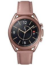 Samsung Galaxy Watch 3, Ronde Bluetooth Smartwatch voor Android, Draaibare Lunette, Fitnesshorloge, Fitnesstracker, Groot Display, 41 mm, Brons
