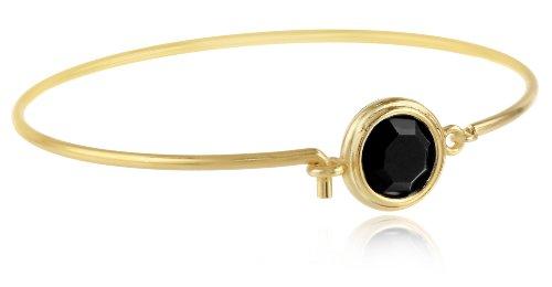 """UPC 011996616342, Signature 1928 """"Signature Crystal Jeweltones"""" Gold Jet Swarovski Bracelet, 2.5"""""""