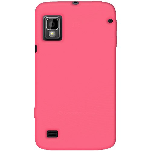 Amzer Silicone Jelly Skin Fit Case for ZTE Warp – Retail Packaging – Baby Pink
