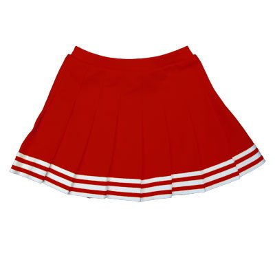 Elastic Waist Knife Pleat Skirt (Red, Adult 2 Extra Large) Pleat Cheer Skirt