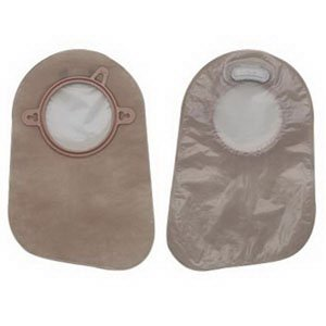 Ostomy Pouch 2.25' Flange - Hollister 18363 - New Image Closed Pouch, Transparent, Red, 2.25'' Flange, 60/bx