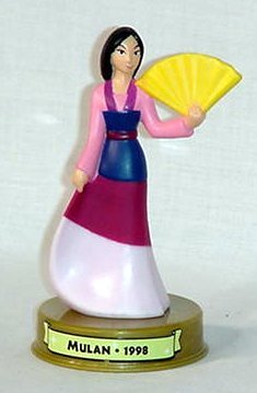 2002 Toy - 2002 Mcdonalds 100 Years of Disney Mulan Figure Happy Meal Toy
